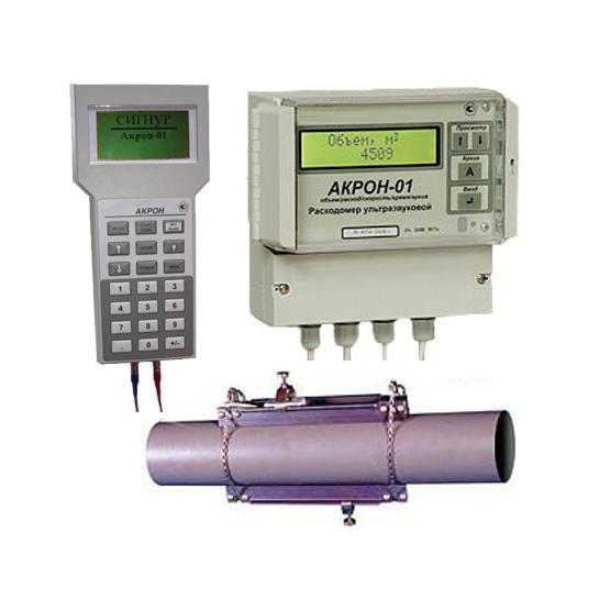АКРОН-01 ультразвуковые расходомеры (01С, 01П) с накладными датчиками (излучателями)