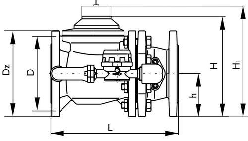 Габаритные размеры-1 счетчиков воды ВСХНК, ВСХНКд
