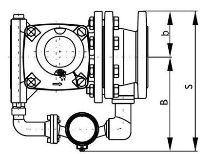 Габаритные размеры-2 комбинированных водосчетчиков ВСХНК, ВСХНКд
