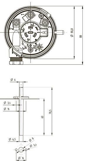 Габаритные размеры-2 реле DPS BD