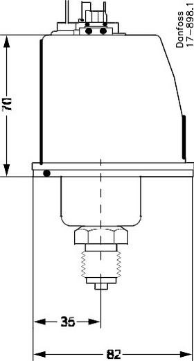 Размеры реле BCP-1H