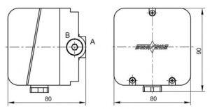 Габаритные размеры датчиков-реле давления ДРД-Н