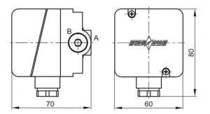Габаритные размеры датчиков-реле давления ДРД