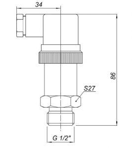 Габаритные размеры датчика давления Корунд-ДИ-001Д