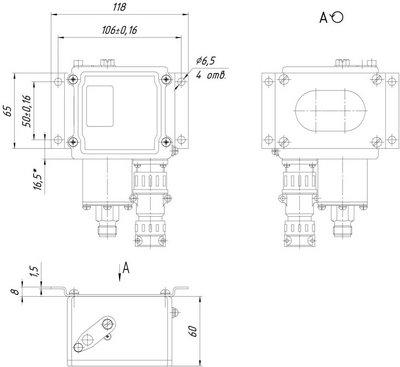 Габаритные размеры ДЕМ-105С с КМЧ К1