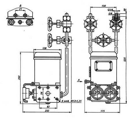 Габаритные размеры ДМПК-100М, -100АМ