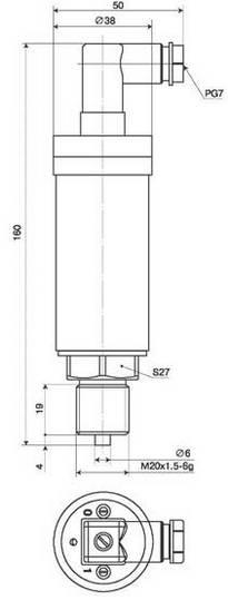 Габаритные размеры преобразователей КРТ-5М