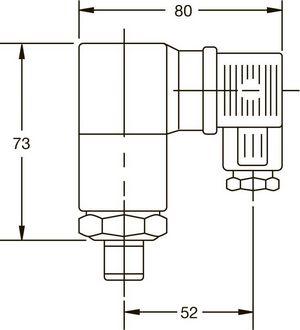 Габаритные размеры реле давления РД-М