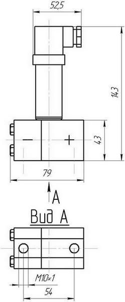 Габаритные размеры датчиков давления ДДМ-03-ДД