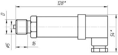 Габаритные размеры датчиков давления ДДМ-03Т