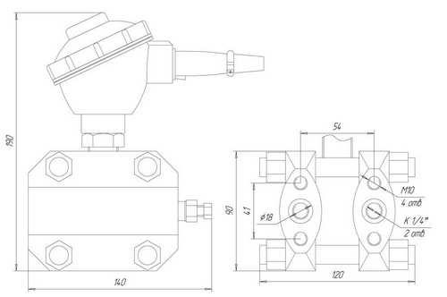 Габаритные размеры датчиков ЗОНД-10-ДД-1162