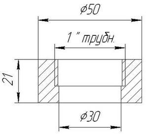 Габаритные размеры датчика ЗОНД-10-ИД-1040м