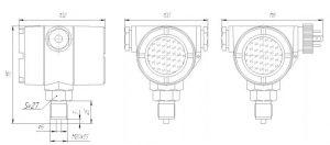 Габаритные размеры датчика давления ЗОНД-10-ИД-1031