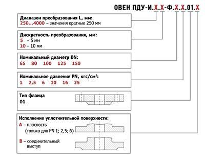 Форма заказа ПДУ-И с фланцевым присоединением