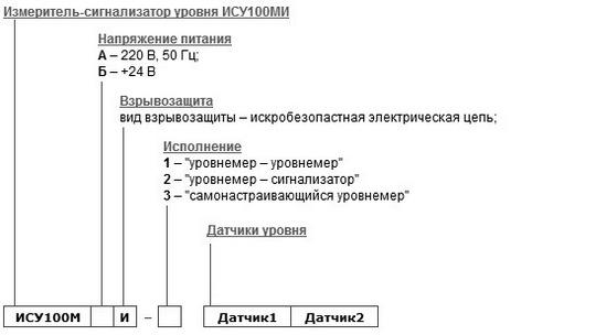 Форма заказа уровнемера ИСУ-100МИ