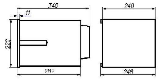Габаритные размеры регистратора Технограф-160