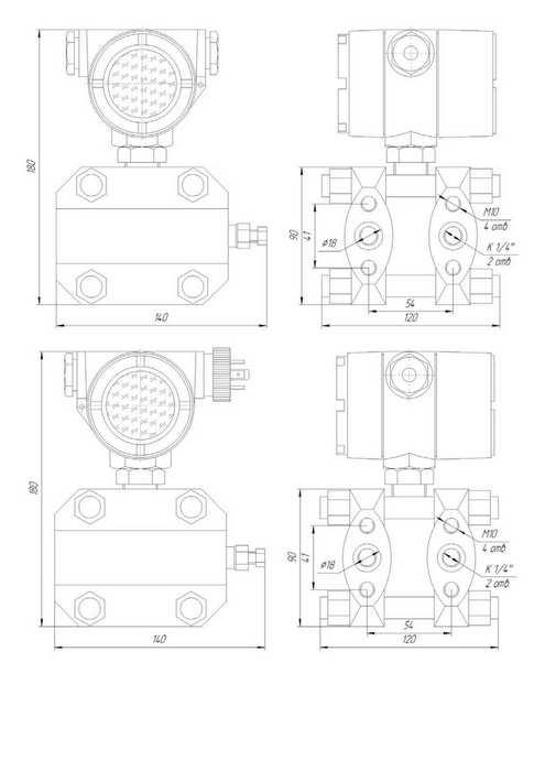 Габаритные размеры датчиков ЗОНД-10-ДД-1172