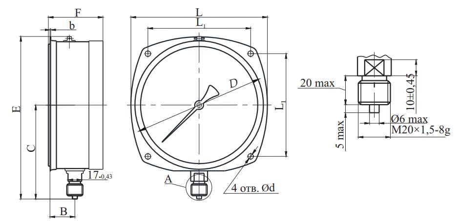 МП4А-Кс радиальный штуцер безопасный корпус