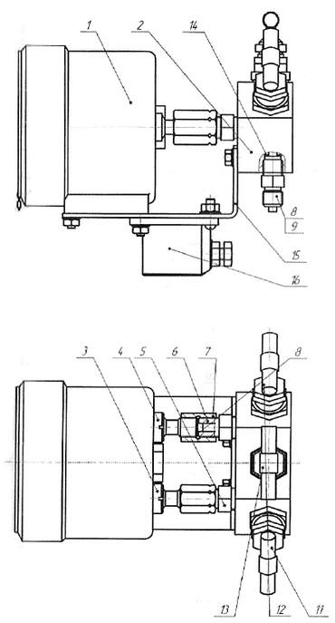 Конструкция дифманометра ДСП-80В