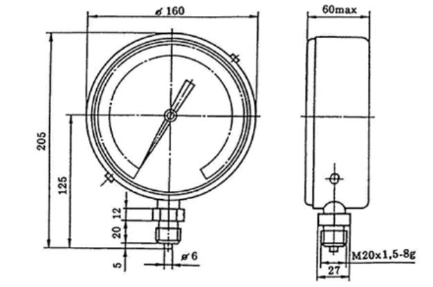 Манометры образцовые МО-11201,-11202,-11203 160 мм