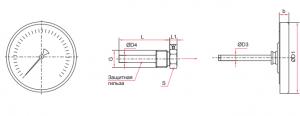 БТ-3 (63мм) термометр