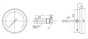 БТ-4,5,7 (80,100,150мм) термометр
