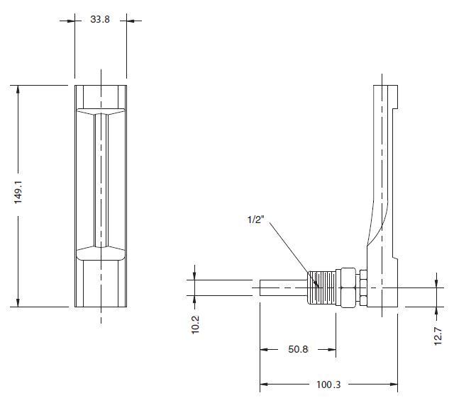 Термометр ТТ-В угловое исполнение 90 °