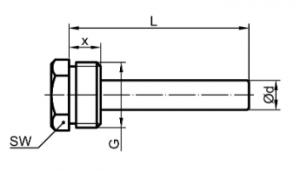 ТБП термометр, резьбовое соединение