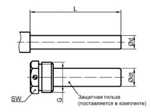 ТБП термометр, соединение без резьбы