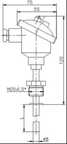 Термопреобразователь сопротивления ТС-100