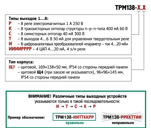 Форма заказа ТРМ-138