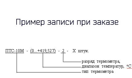 Форма. Эталонный термометр ПТС-10M