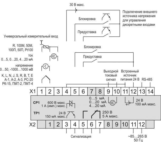 Схема МЕТАКОН-1205