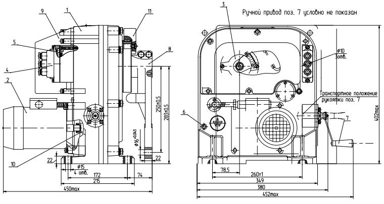Схема устройства МЭО-630