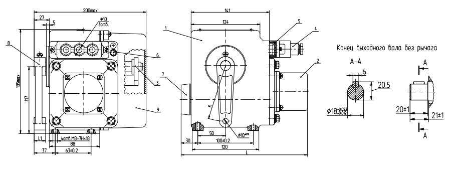 Схема устройства МЭО-40