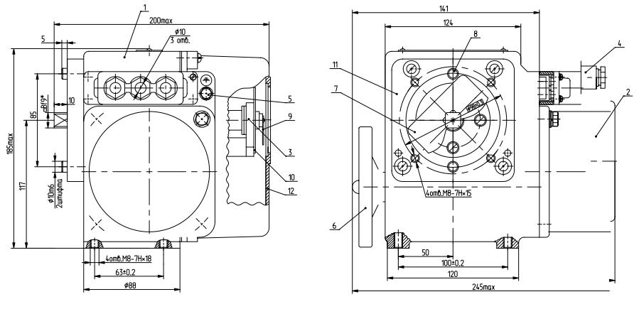 Схема устройства МЭОФ-40