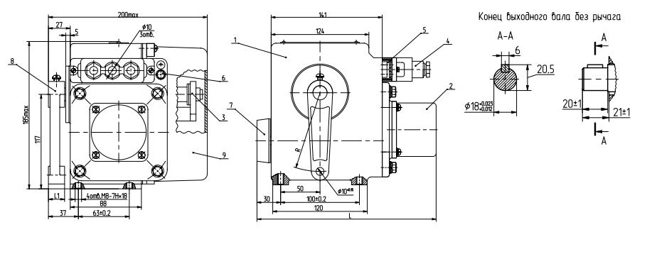 Схема устройства МЭО-16