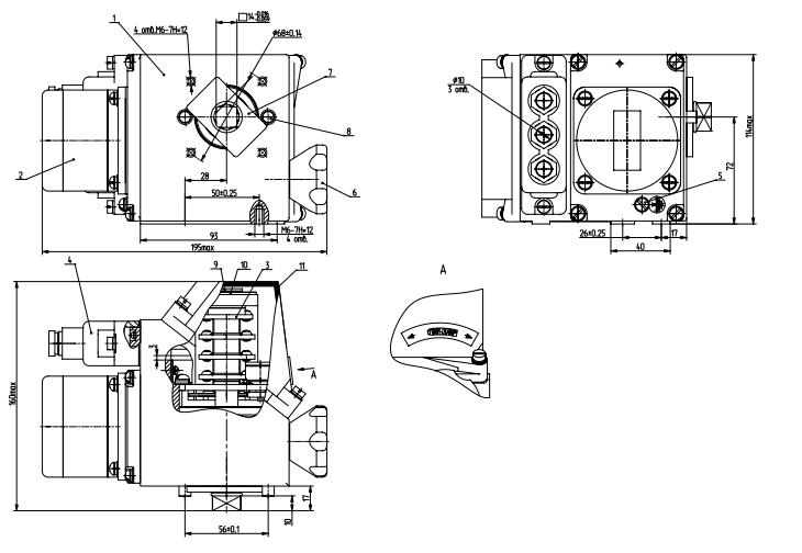 Схема устройства МЭОФ-16