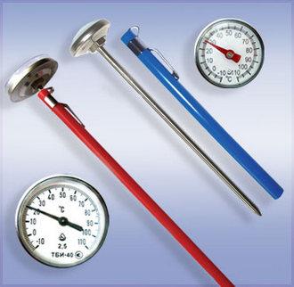 ТБИ-25, ТБИ-40 термометры биметаллические игольчатые