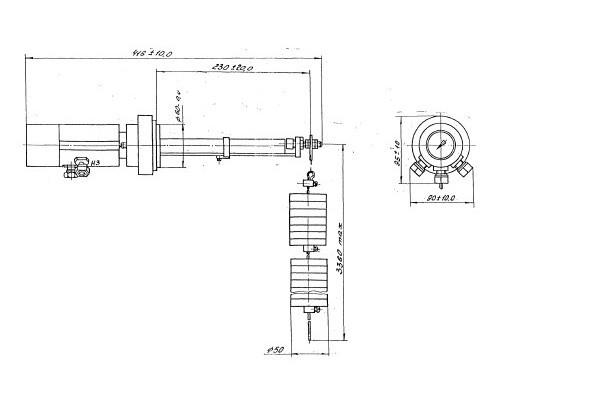 ДУЖП-200М габаритный чертеж