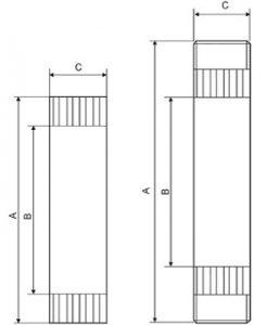 Ротаметр LZM-G размеры