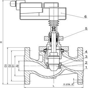 Схема. Запорно-регулирующий клапан ЗРК