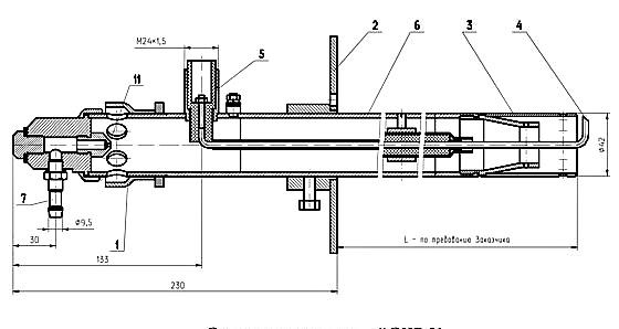 Эскиз. Горелки газовые запальные ЭИВ-01 и ЭИВ-01-32