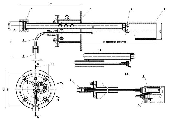 Схема. Горелка на дизельном топливе ЭКВ-11Р
