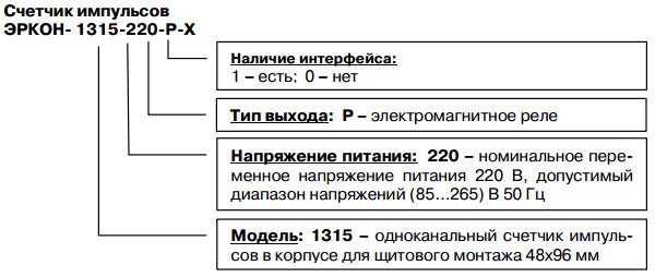 Форма заказа ЭРКОН-1315