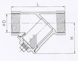 Фильтр сетчатый нержавеющий ФСН-М муфтовый