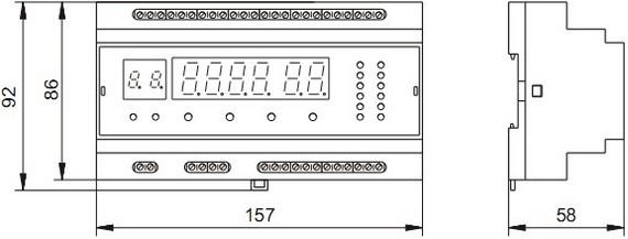 Габаритные размеры прибора КЭП-12М