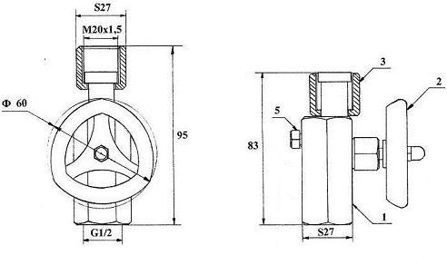 Габаритные размеры модуля КПМ-2