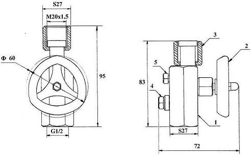 Размеры модуля КПМ-3