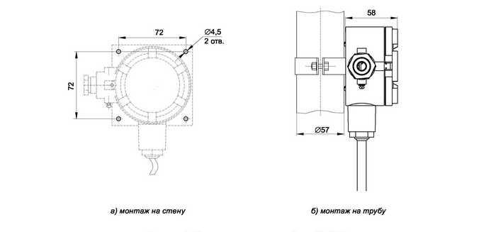 Монтаж термопреобразователей ИТ-1Ц.В, ИТ-2Ц.В